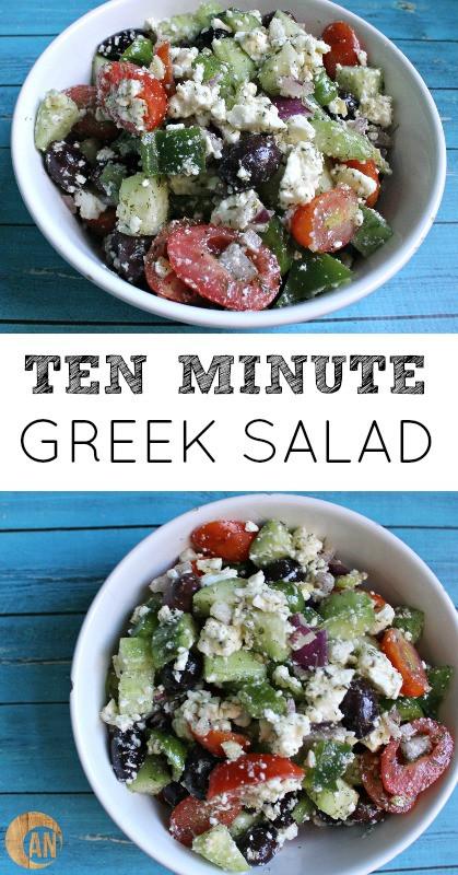 Greek Side Dishes Healthy  Ten Minute Greek Salad Ancestral Nutrition