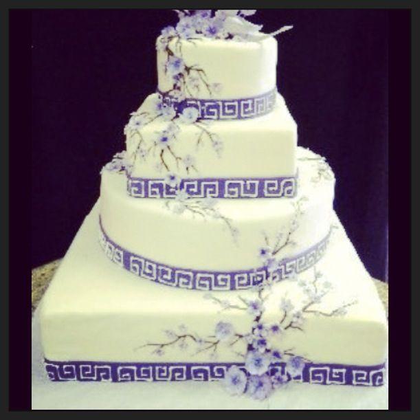 Greek Wedding Cakes  Greek themed wedding cake Wedding ideas