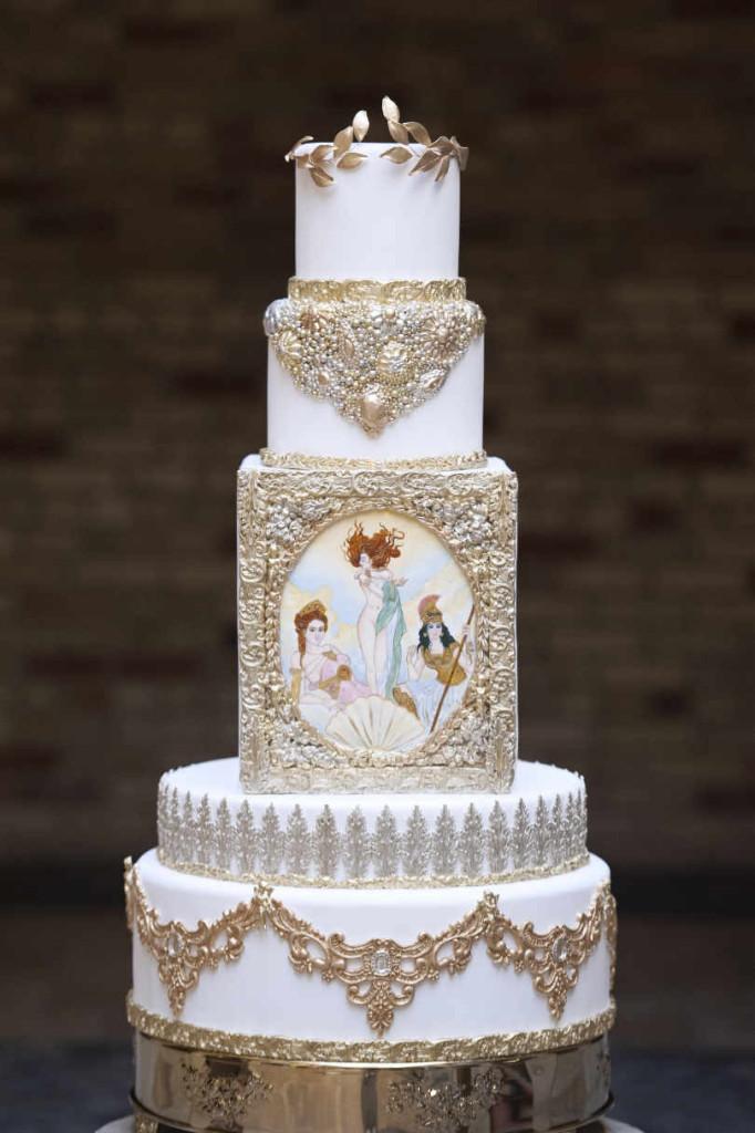 Greek Wedding Cakes  Greek Goddesses Wedding Inspiration