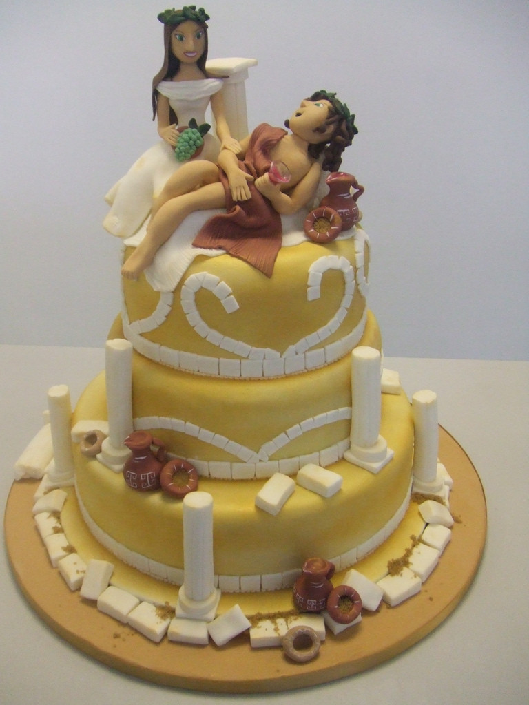 Greek Wedding Cakes  Greek wedding cake