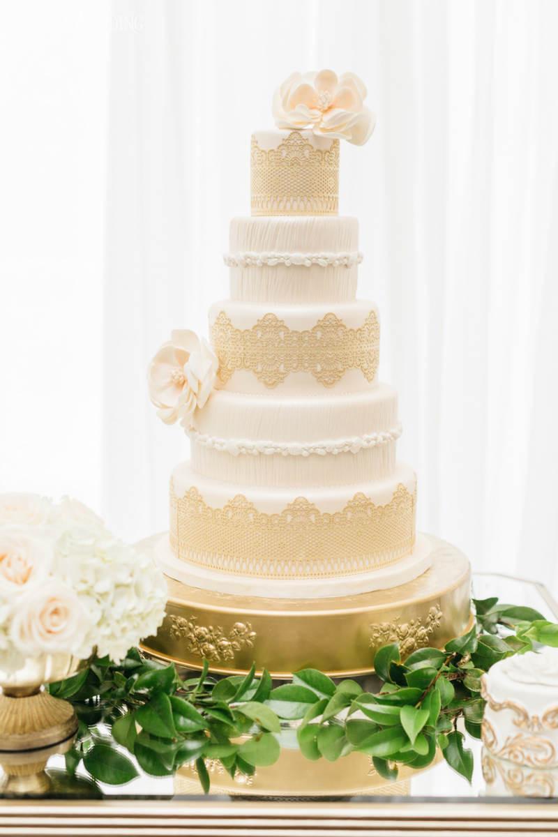 Greek Wedding Cakes  Stylish Greek Wedding Theme with Gold Decor