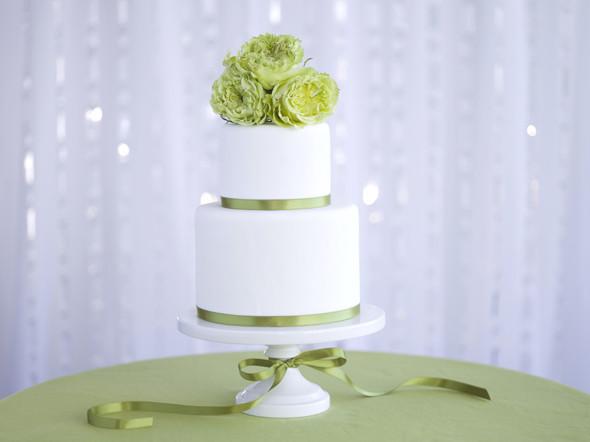 Green And White Wedding Cake  New Sandals Wedding Ideas The Destination Wedding Blog