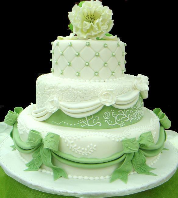 Green And White Wedding Cake  white green wedding 3 tiers Cake Pantry