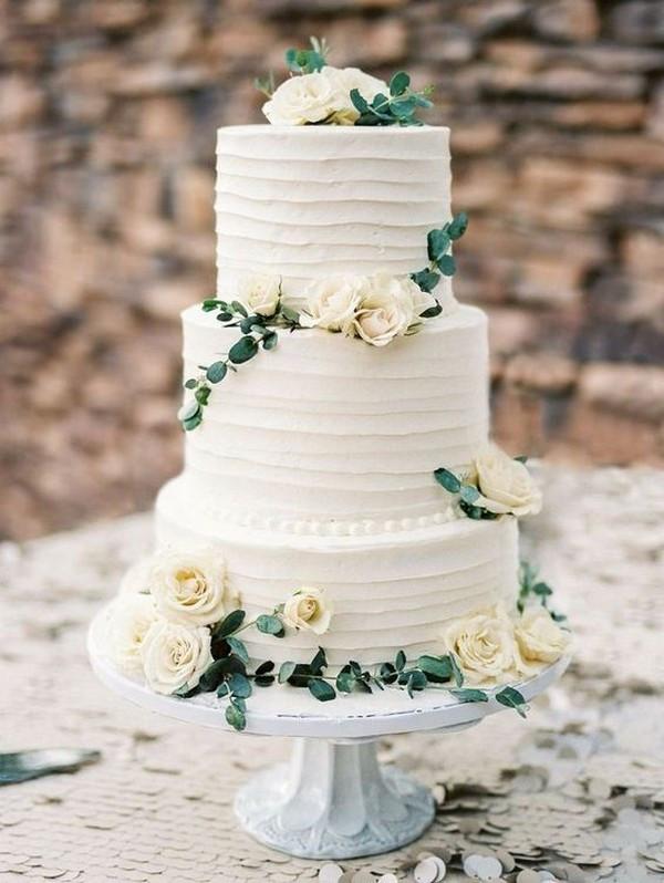 Green And White Wedding Cake  15 Amazing White and Green Elegant Wedding Cakes