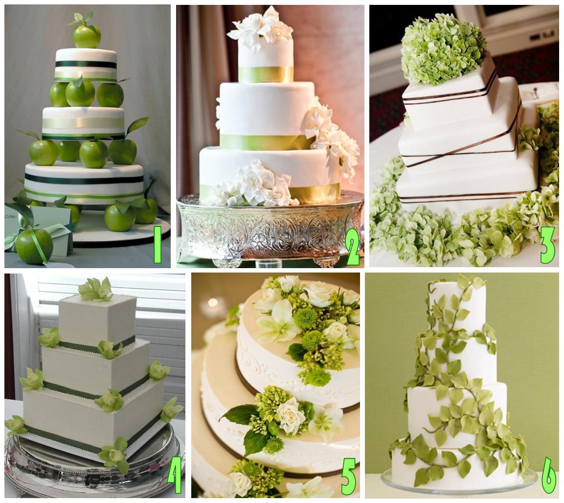 Green And White Wedding Cake  La Casamiento White & Green Wedding Feel the Nature