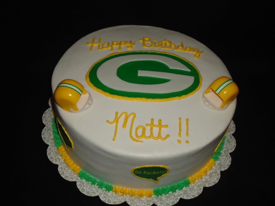 Green Bay Wedding Cakes  Green Bay Packers cake by Kim Leatherwood CakesDecor