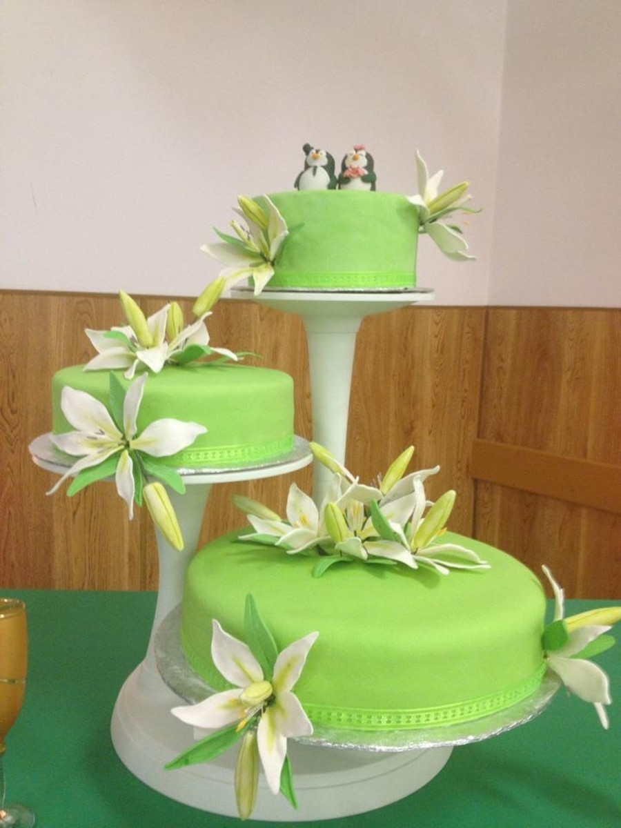 Green Wedding Cakes  Lime Green Wedding Cake CakeCentral