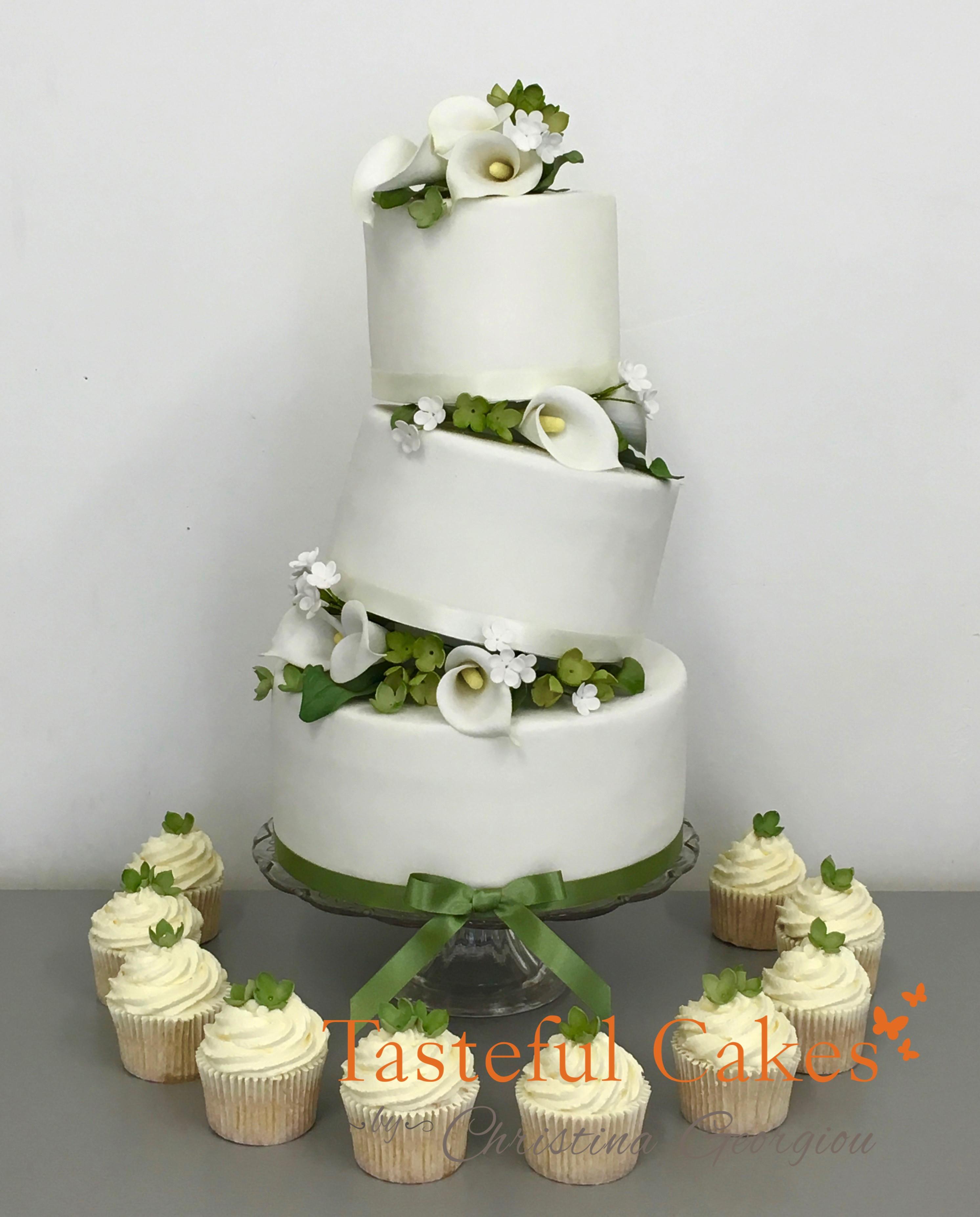 Green Wedding Cakes  Tasteful Cakes By Christina Georgiou