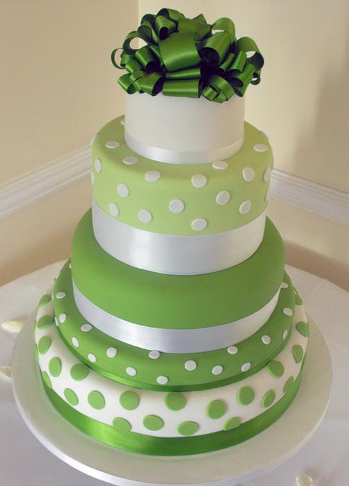 Green Wedding Cakes  Green Wedding Cakes Wedding Decorations