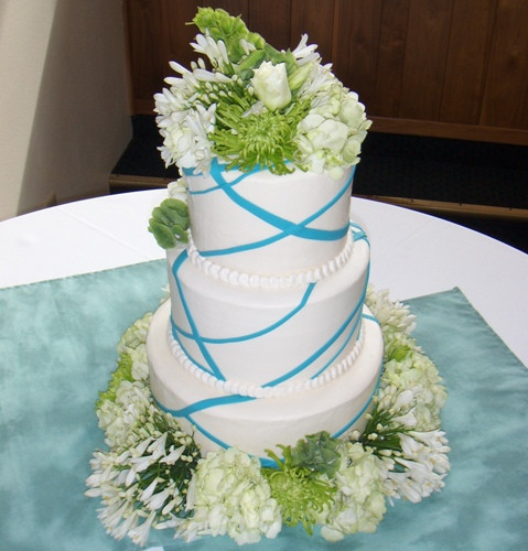 Green Wedding Cakes  Wedding Cakes Blue and Green wedding Cakes