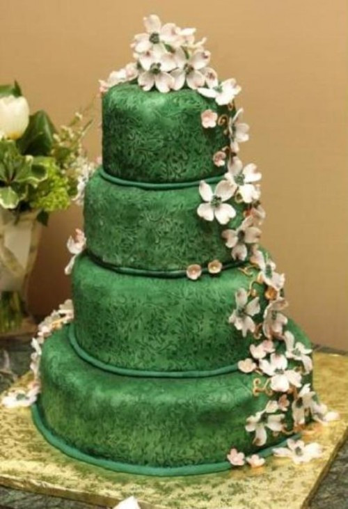 Green Wedding Cakes  23 Gorgeous Green Wedding Cakes To Make A Statement
