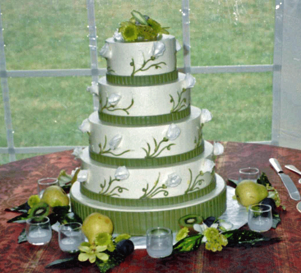 Green Wedding Cakes  Wedding Bouquets Wedding Bouquets With Lilies