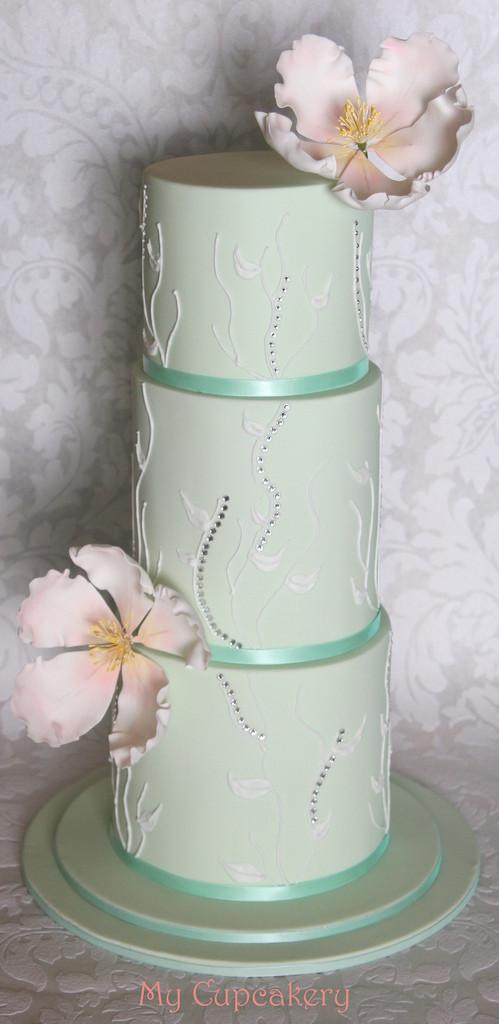 Green Wedding Cakes  Wedding Cakes Pastel Green Wedding Cake