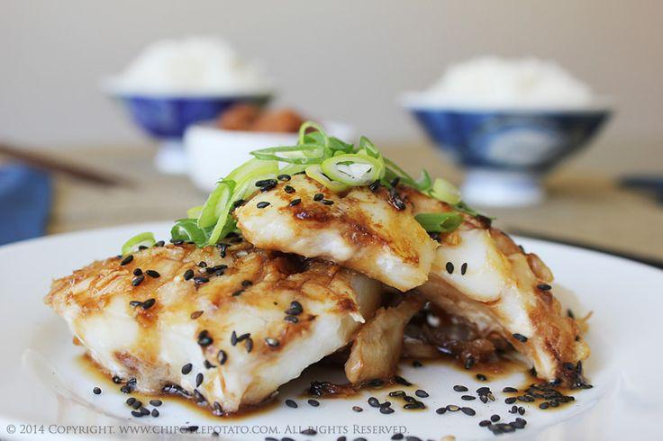 Grilled Cod Fish Recipes Healthy  Teriyaki Alaskan Cod served with Steamed Rice Teriyaki is