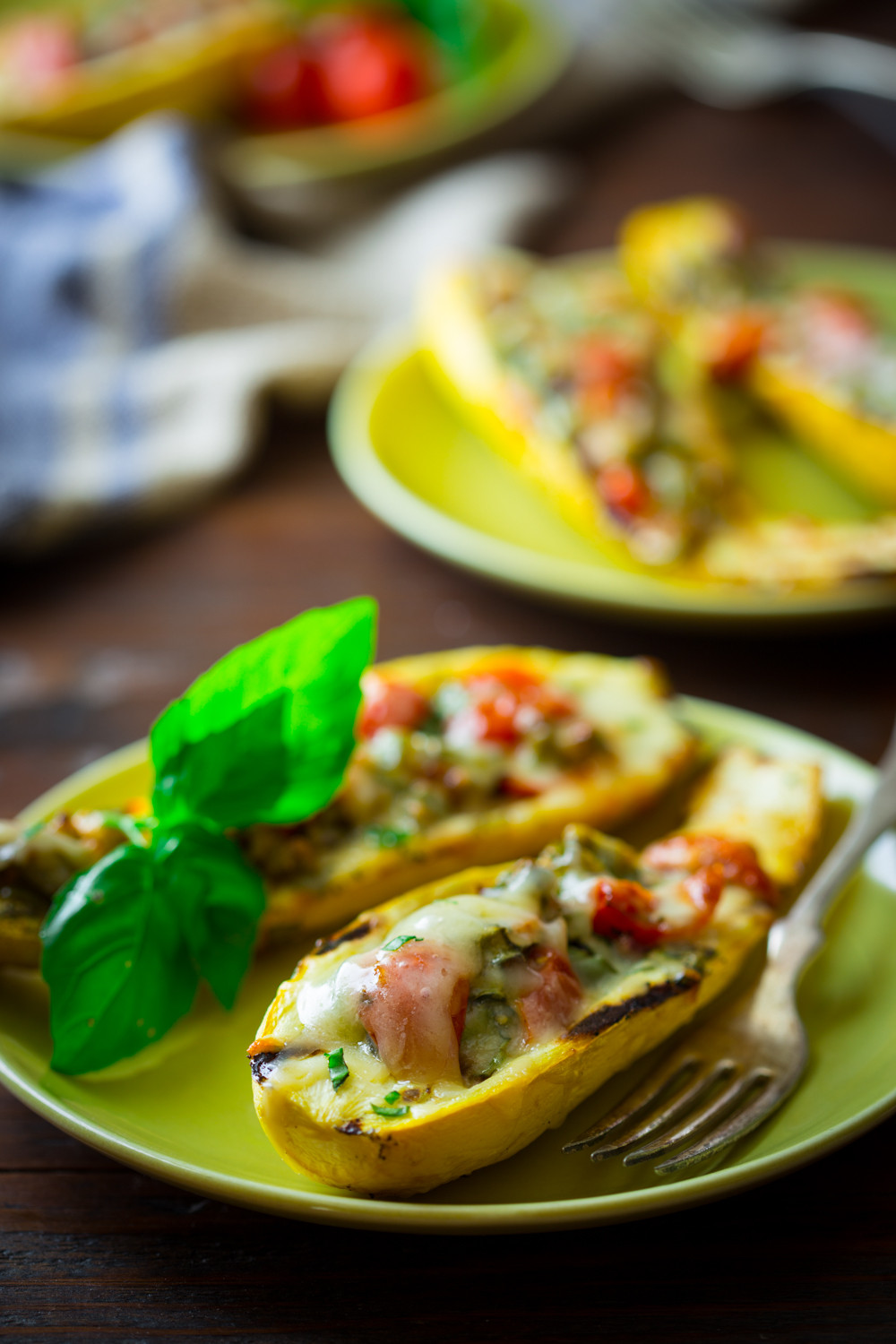 Grilled Summer Squash  low carb grilled stuffed summer squash Healthy Seasonal