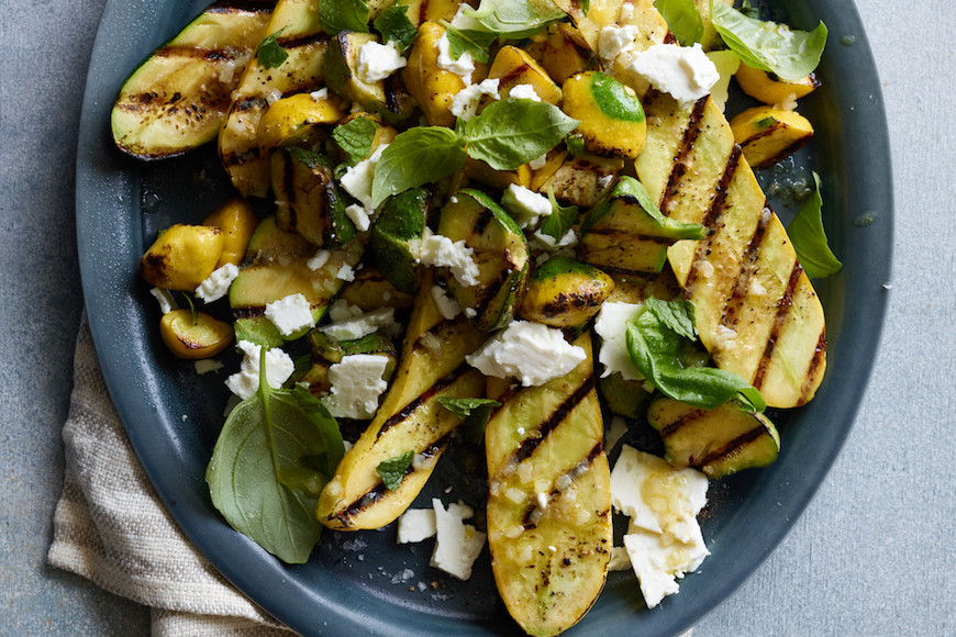 Grilled Summer Squash  Grilled Summer Squash with Feta What s Gaby Cooking