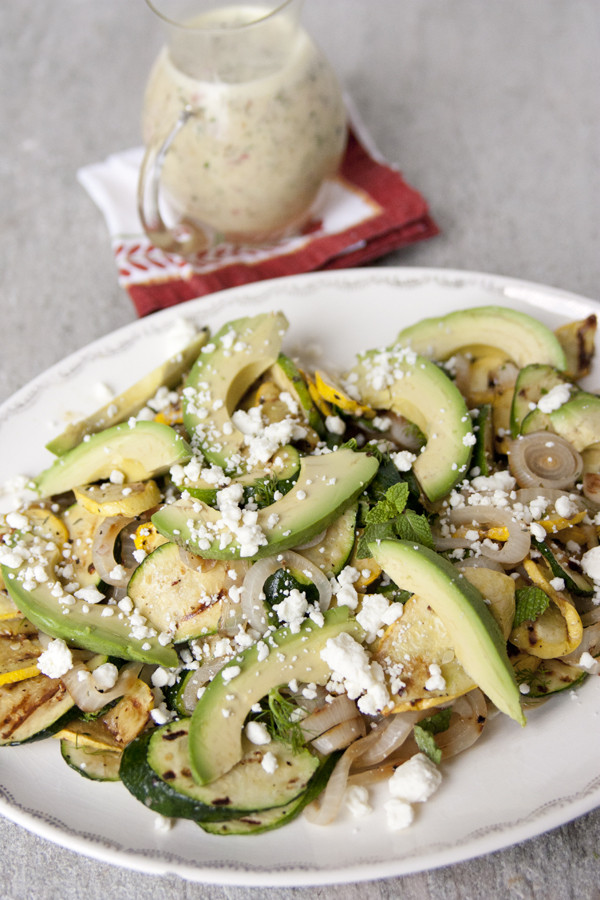 Grilled Summer Squash  Grilled Summer Squash Avocado and Feta Salad with White