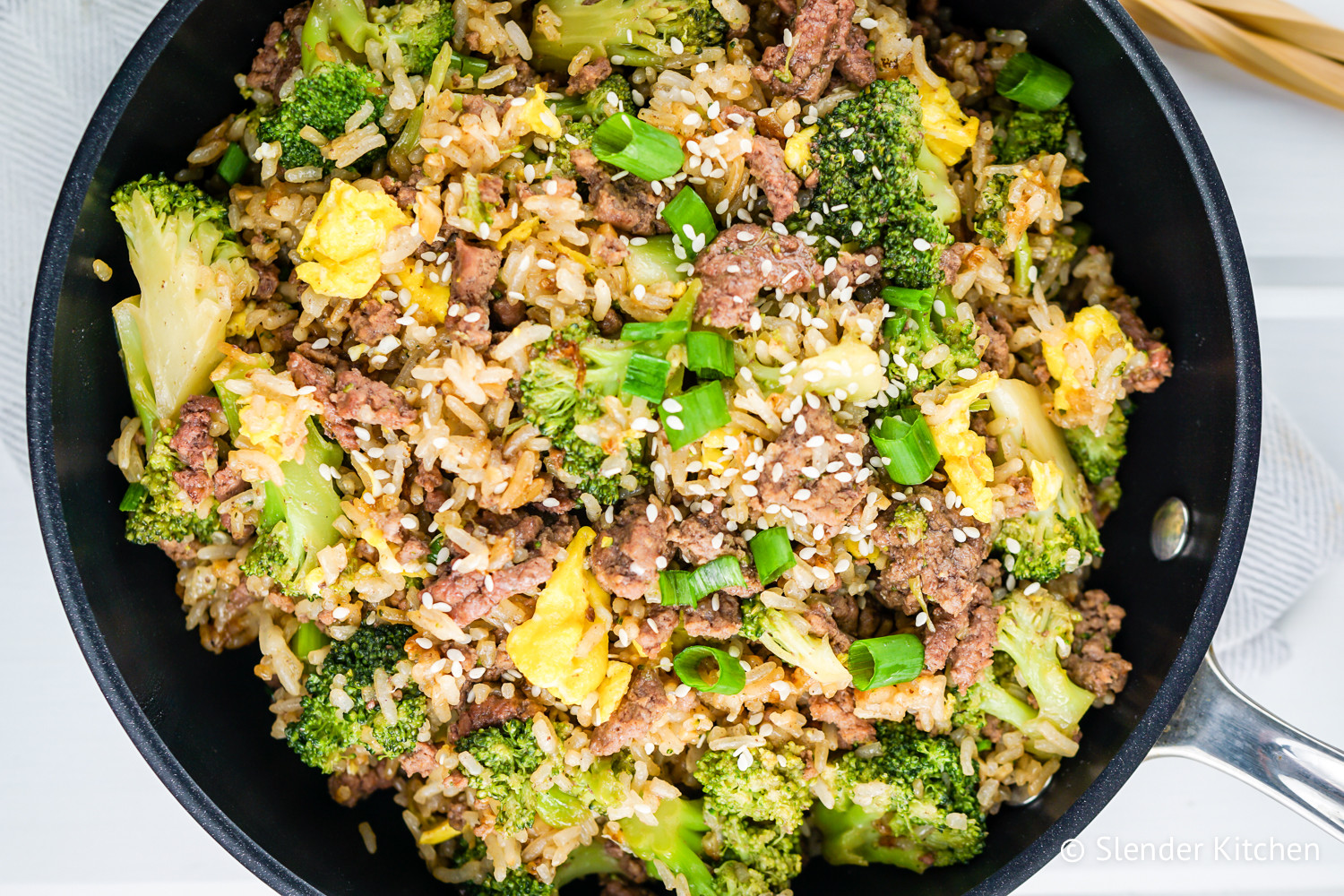 Ground Beef And Rice Recipes Healthy  Beef and Broccoli Fried Rice Slender Kitchen