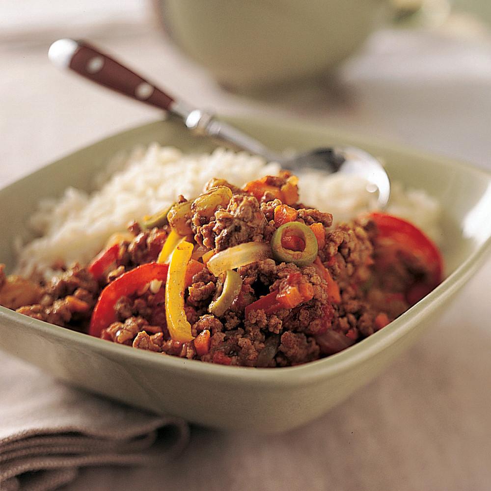 Ground Beef Recipes Healthy  Healthy Picadillo Recipe