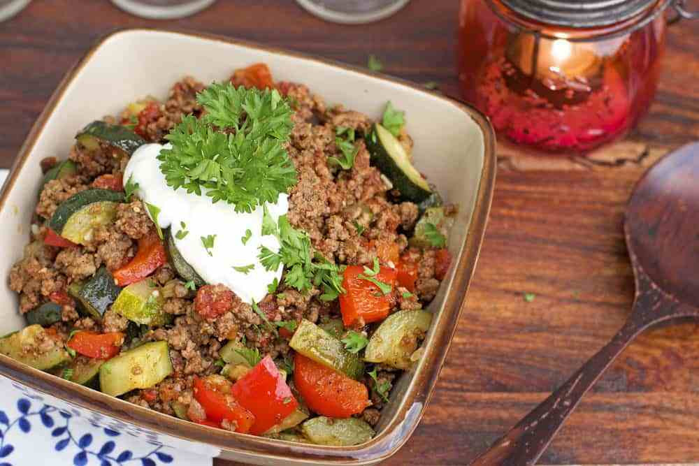 Ground Beef Summer Recipe  Mexican Ground Beef Zucchini Skillet 365 Days of Easy