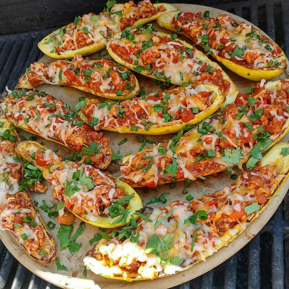 Ground Beef Summer Recipe  stuffed summer squash ground beef