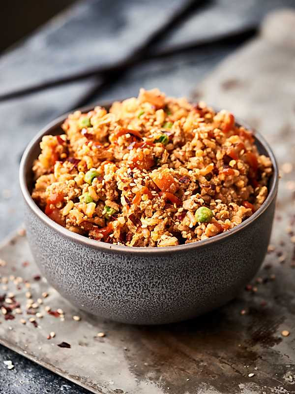 Ground Turkey Healthy  Ground Turkey Fried Rice Recipe w Brown Rice 15 Min