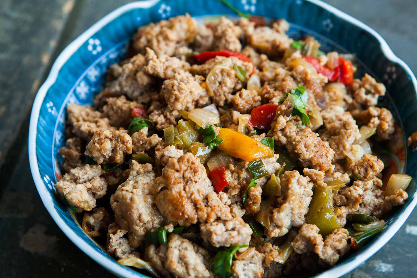 Ground Turkey Healthy Recipe  Mom s Ground Turkey and Peppers 1 Pot Meal