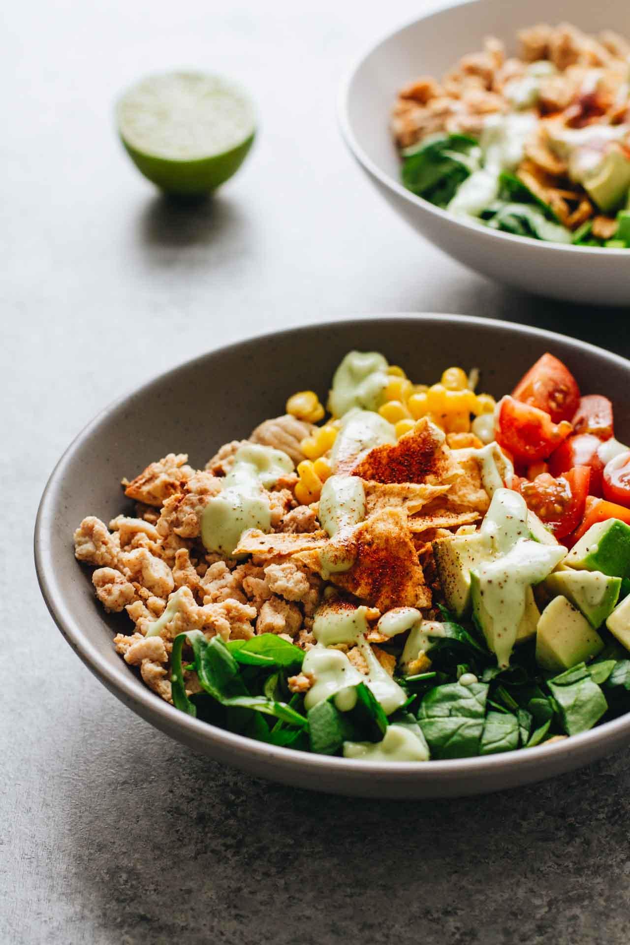 Ground Turkey Healthy  Easy Healthy Taco Salad w Ground Turkey Jar Lemons