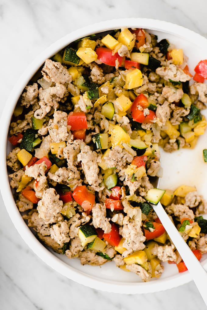 Ground Turkey Summer Recipes 20 Best Ideas Paleo Ground Turkey Hash with Squash and Peppers