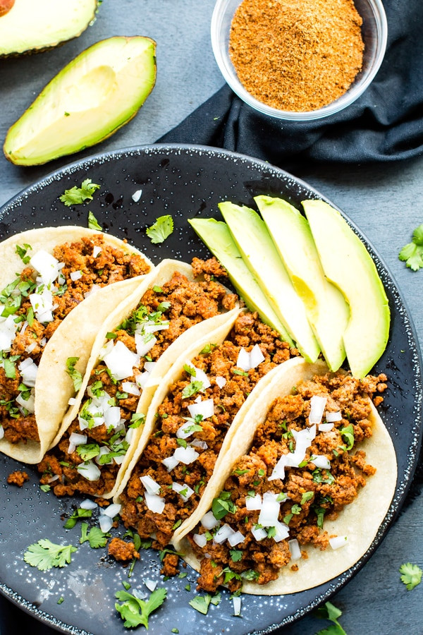 Ground Turkey Tacos Healthy  Ground Turkey Tacos with Soft Corn Tortillas Evolving Table
