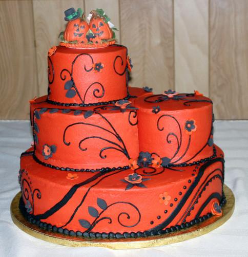 Halloween Themed Wedding Cakes  124 Halloween Themed Wedding Cake