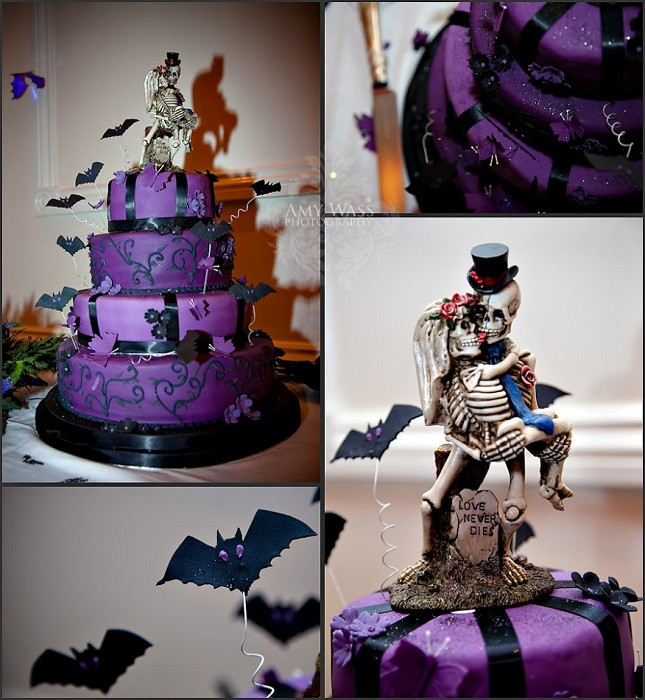 Halloween Wedding Cakes  Wedding Trends Halloween and Fall Wedding Themes