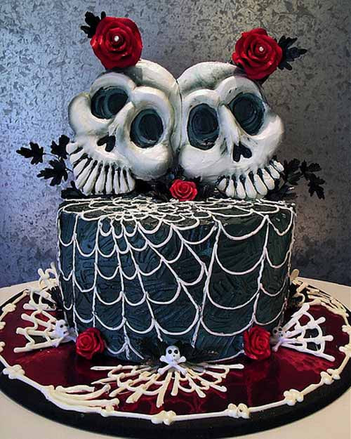 Halloween Wedding Cakes  Halloween Countdown Halloween Wedding Cakes