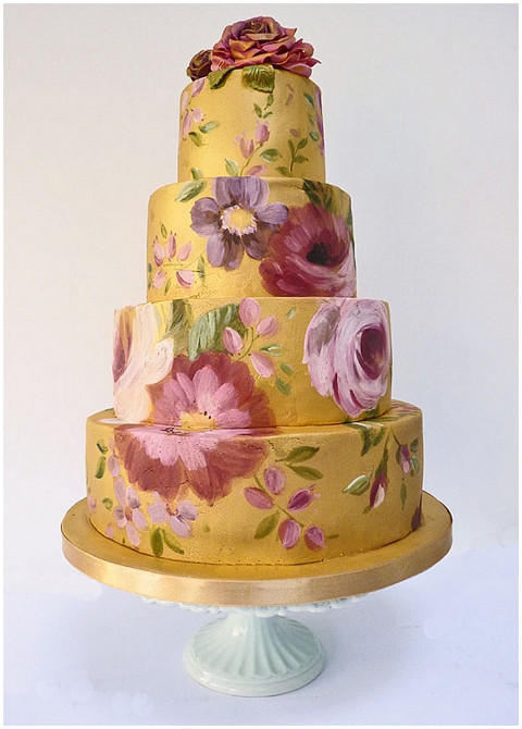 Hand Painted Wedding Cakes  Hand painted wedding cakes by Nevie Pie Cakes