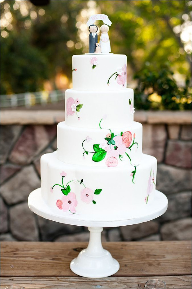 Hand Painted Wedding Cakes  22 Hand Painted Wedding Cakes That Will Inspire You