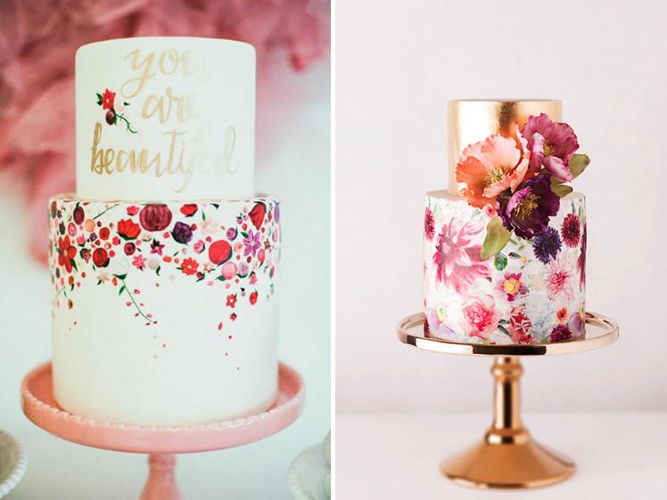 Hand Painted Wedding Cakes  10 Amazing Hand painted Wedding Cakes Glitzy Secrets