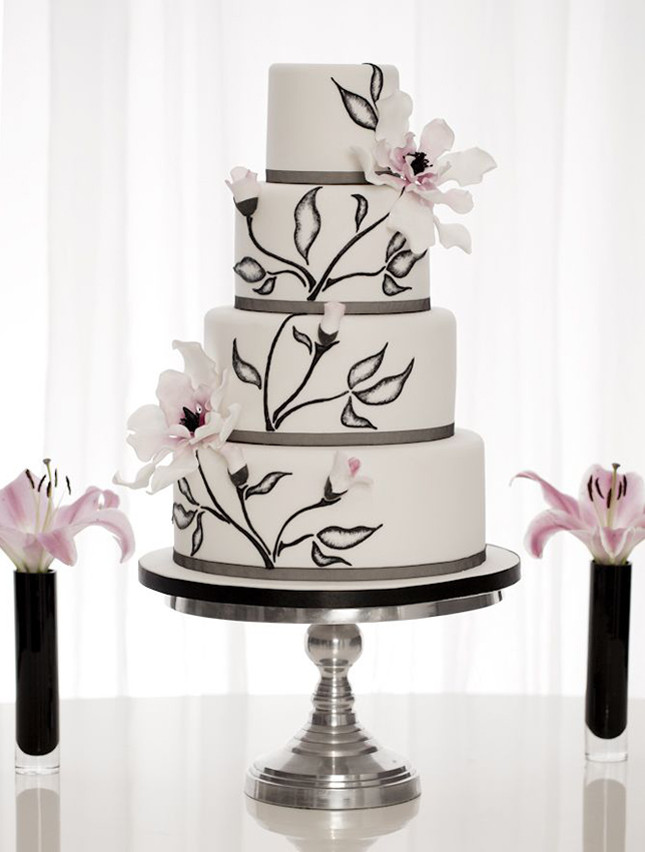 Hand Painted Wedding Cakes  Wedding Trends Hand Painted Cakes Belle The Magazine