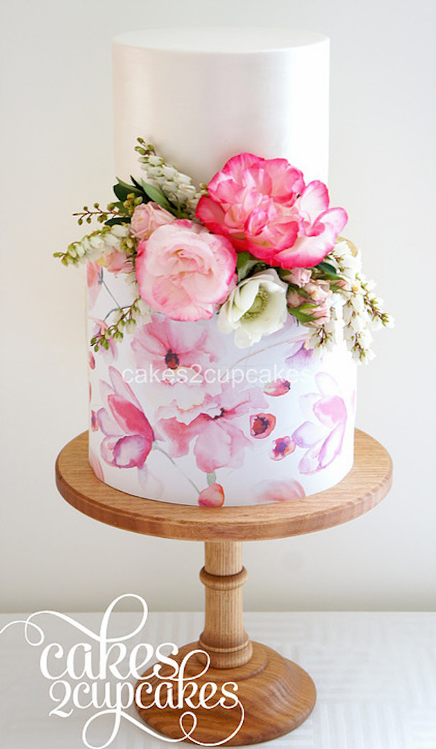 Hand Painted Wedding Cakes  Best Wedding Cakes of 2016 Belle The Magazine
