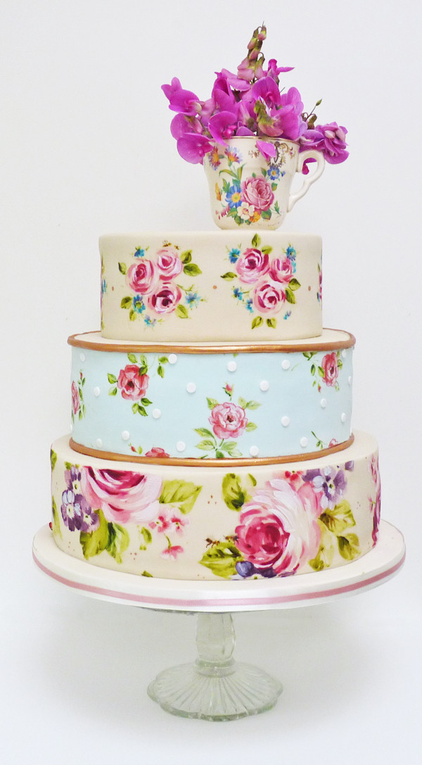 Hand Painted Wedding Cakes  Hand Painted Wedding Cakes