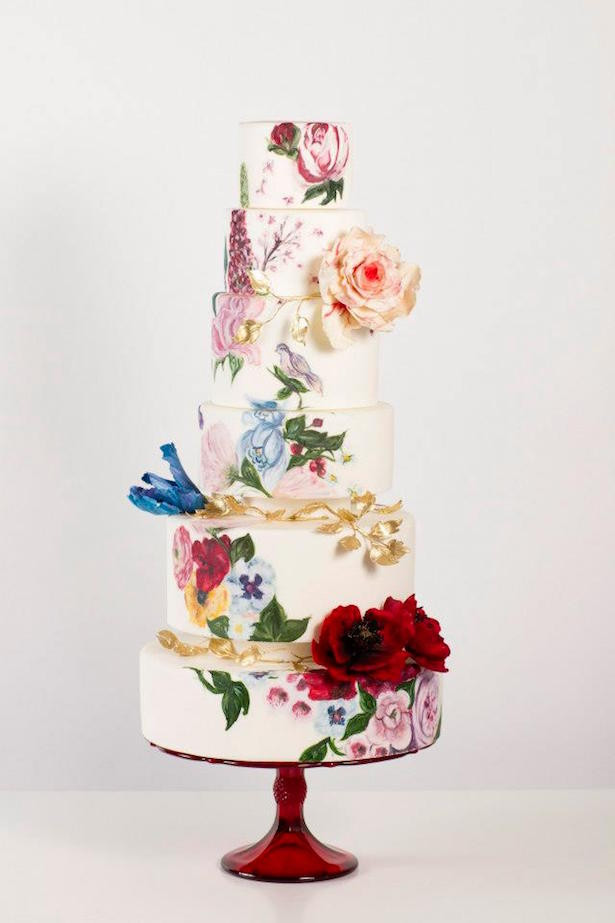 Hand Painted Wedding Cakes  Hand Painted Wedding Cakes Belle The Magazine