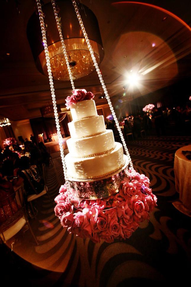 Hanging Wedding Cakes  15 Stunning Cake Table Ideas Belle The Magazine