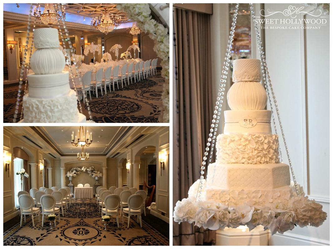"Hanging Wedding Cakes  ""Halo"" Hanging Wedding Cake"