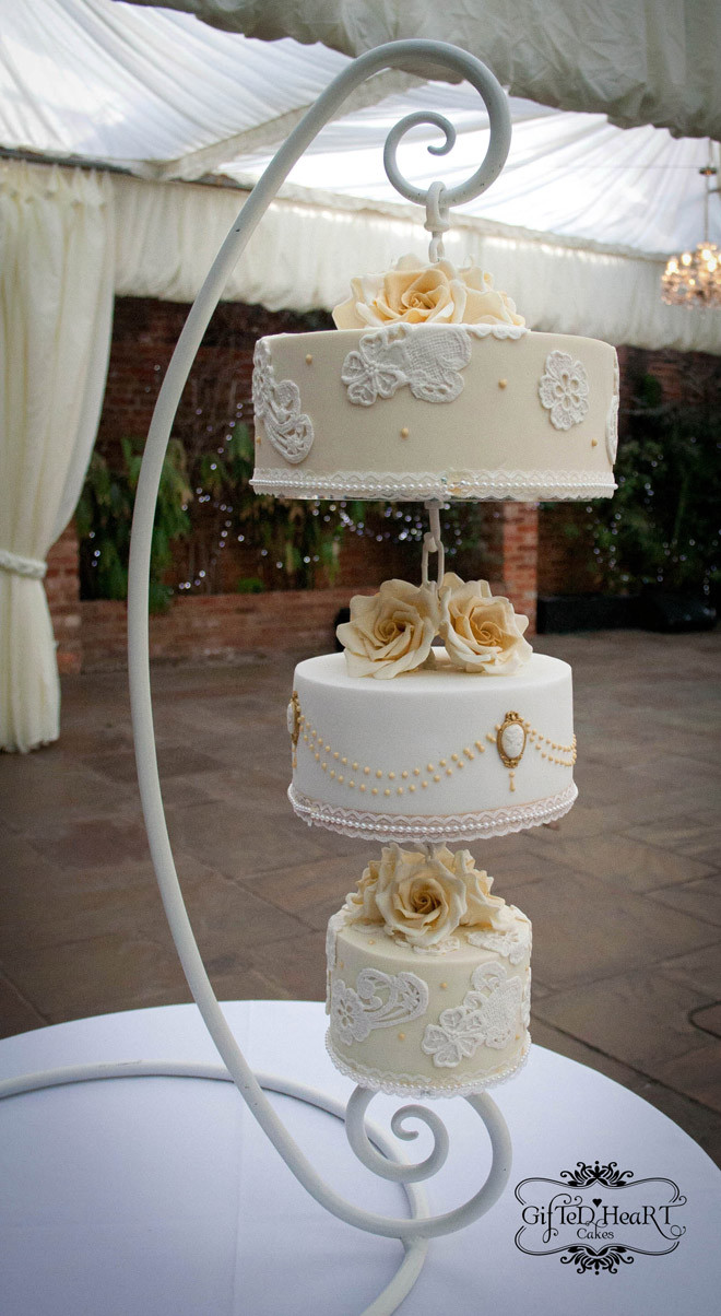 Hanging Wedding Cakes  Quirky Weddings