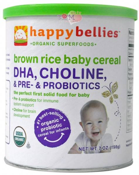 Happy Bellies organic Brown Rice Cereal top 20 Happy Baby Happy Bellies organic Brown Rice Cereal with