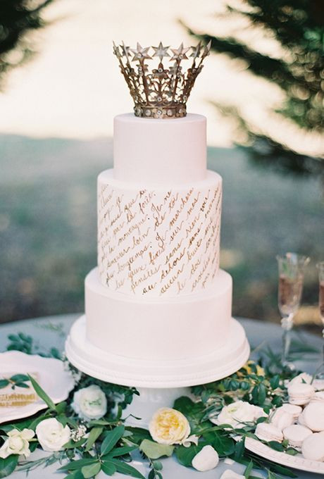 Harps Wedding Cakes  25 best ideas about Crown Cake on Pinterest
