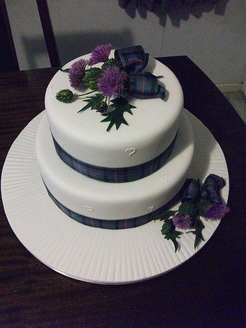 Harps Wedding Cakes  Scottish thistle Thistle wedding and Thistles on Pinterest