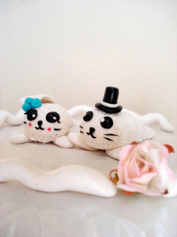 Harps Wedding Cakes  Seal Wedding Cake Toppers Bride and Groom Keepsake Anniversary