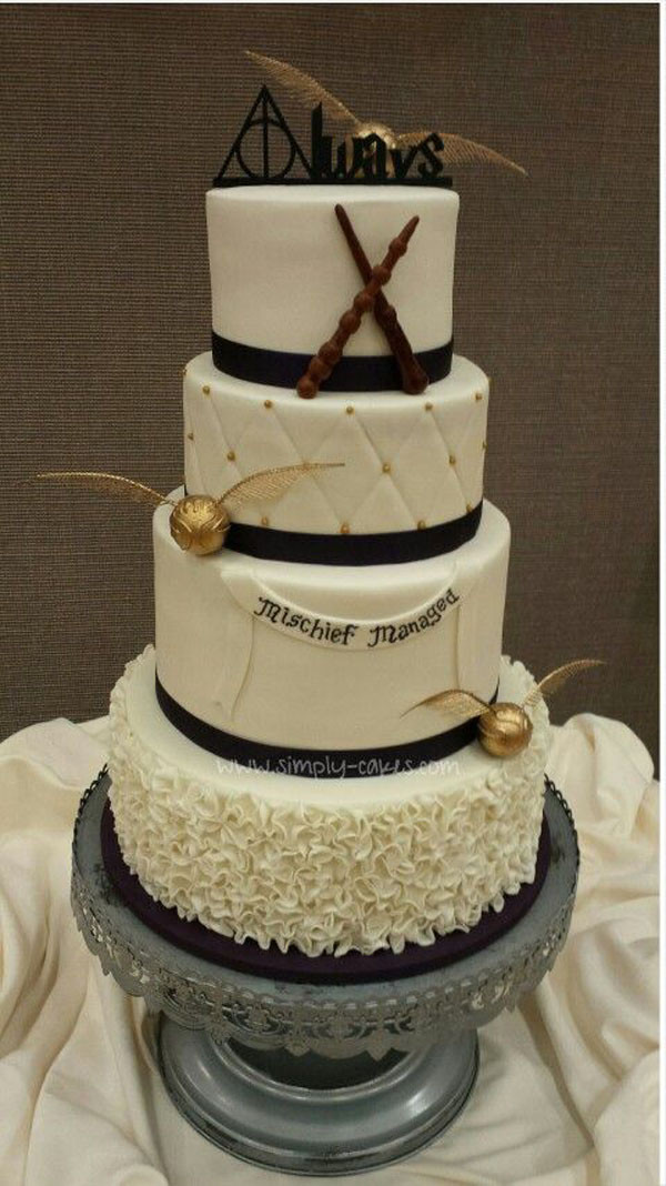Harry Potter Wedding Cakes  10 Wedding Ideas ly Harry Potter Fans Will Love