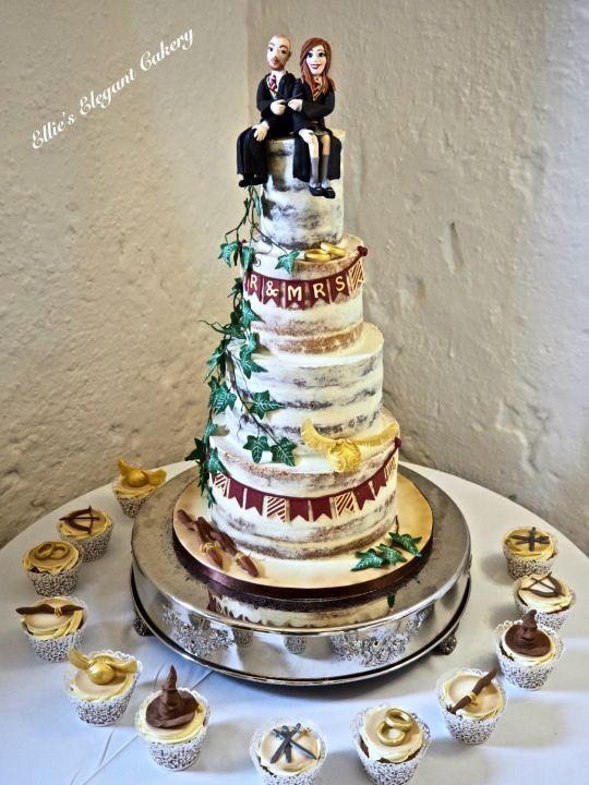 Harry Potter Wedding Cakes  Semi Wedding cake Harry Potter style cake by