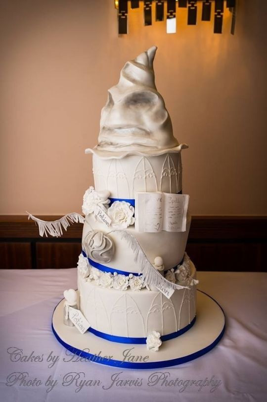Harry Potter Wedding Cakes  A hint of Harry Potter Wedding Cake cake by Cakes By